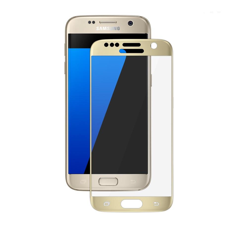 Ochranné tvrzené 3D sklo Tactical pro SAMSUNG GALAXY S7 na celý displej - zlaté (Tvrzenné ochranné sklo Samsung Galaxy S7)