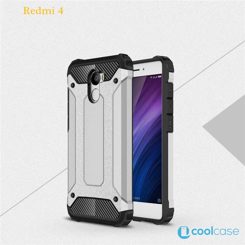 Odolné pouzdro BRUTAL ARMOR na mobilní telefon Xiaomi Redmi 4 Stříbrné (Odolný kryt či obal na mobil Xiaomi Redmi 4)
