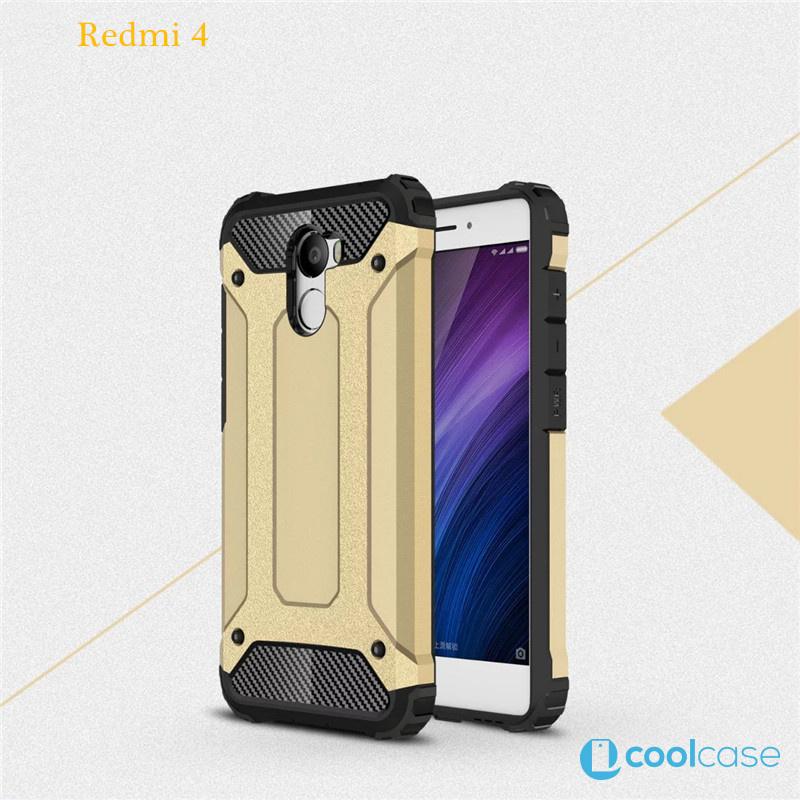 Odolné pouzdro BRUTAL ARMOR na mobilní telefon Xiaomi Redmi 4 Zlatavé (Odolný kryt či obal na mobil Xiaomi Redmi 4)