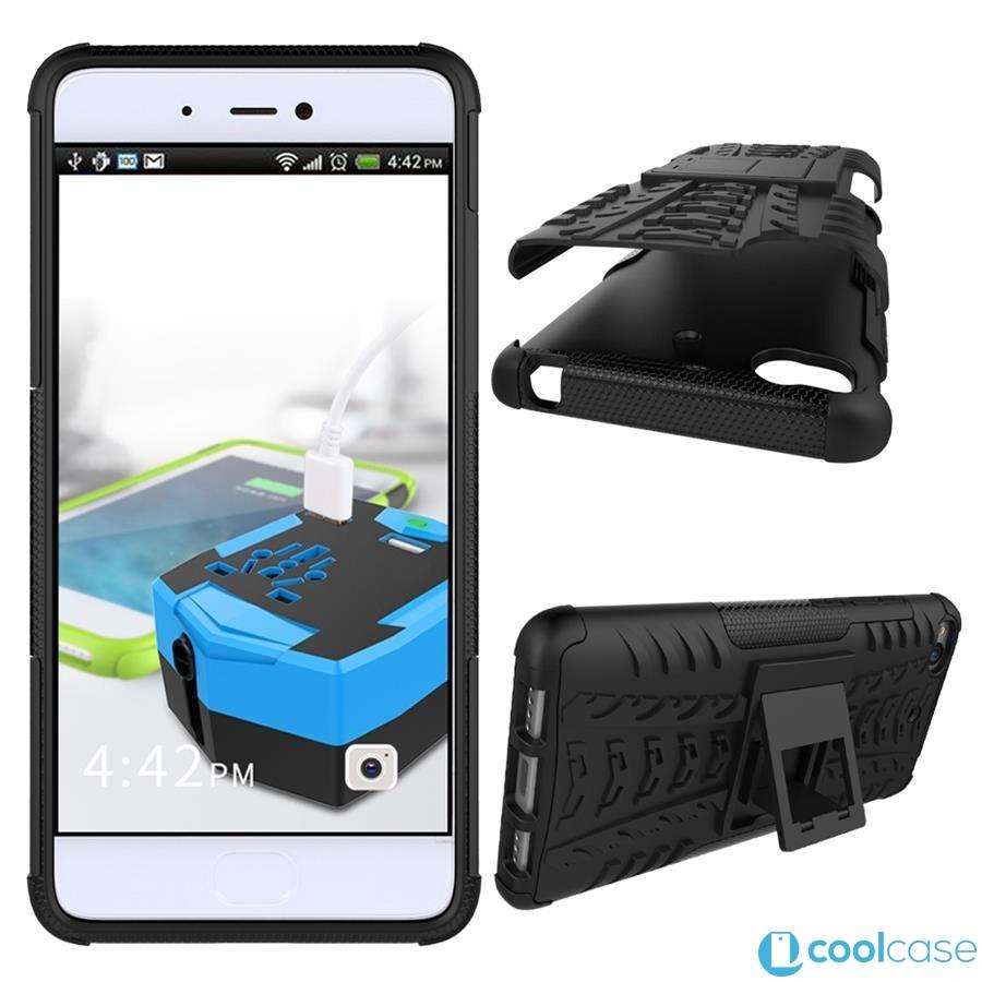Odolné pouzdro PANZER CASE na mobilní telefon Xiaomi Mi5s Černé (Odolný kryt či obal na mobil Xiaomi Mi5s se stojánkem)