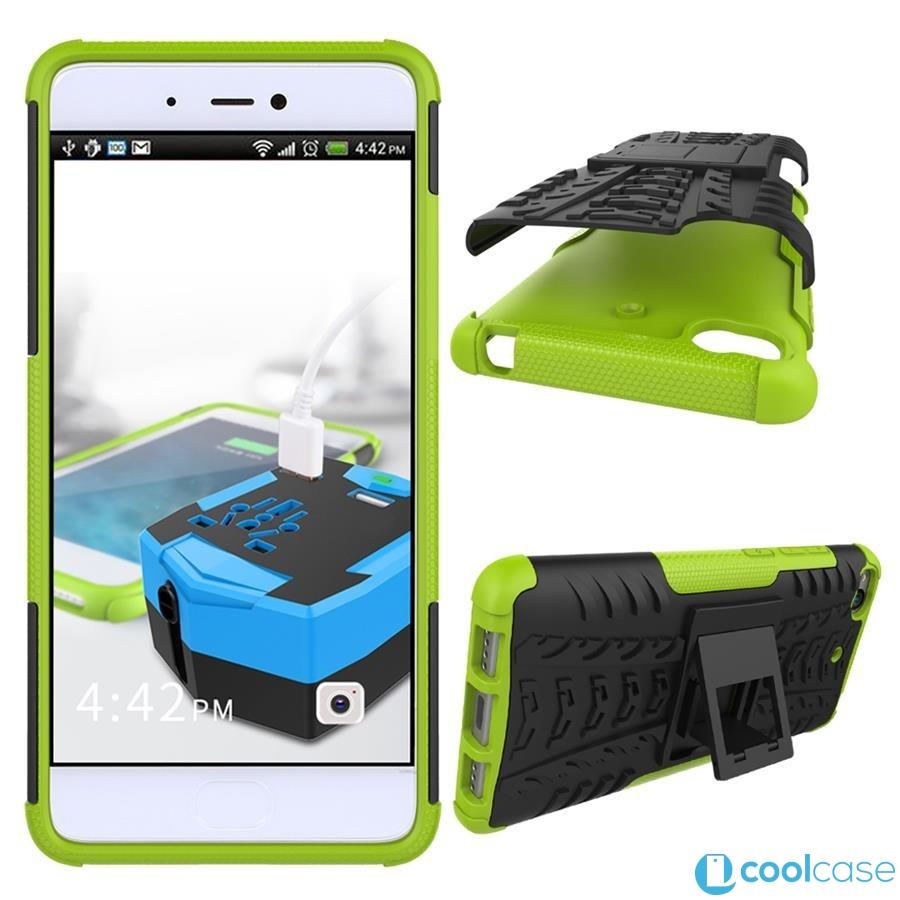 Odolné pouzdro PANZER CASE na mobilní telefon Xiaomi Mi5s Zelené (Odolný kryt či obal na mobil Xiaomi Mi5s se stojánkem)