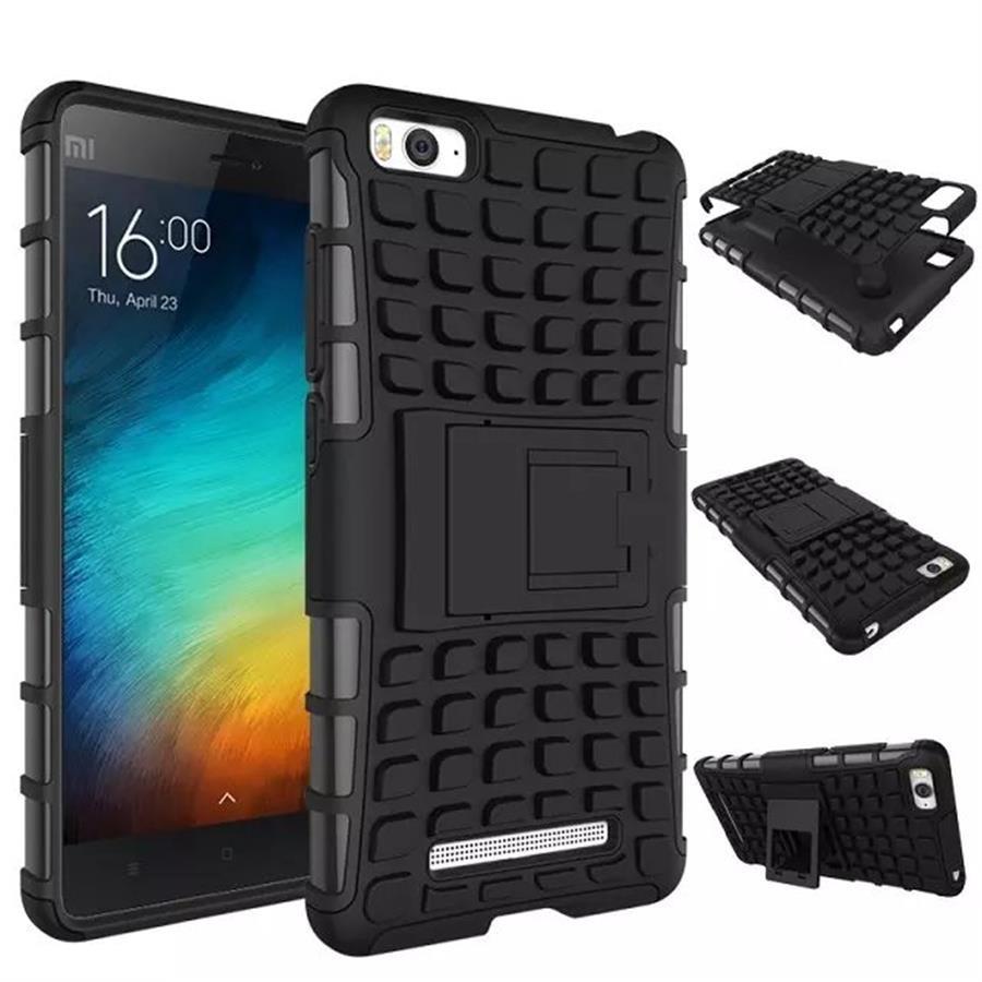 Odolné pouzdro PANZER CASE NEO na mobilní telefon Xiaomi Mi4c / Mi4i Černé (Odolný kryt či obal na mobil Xiaomi Mi4c / Mi4i se stojánkem)