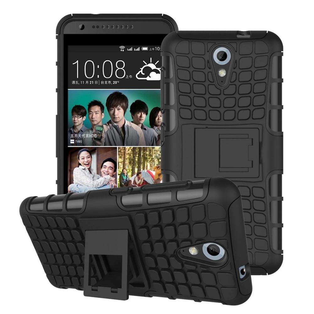 Odolné pouzdro PANZER CASE na mobilní telefon HTC Desire 620 Zelené (Odolný kryt či obal na mobil HTC Desire 620 se stojánkem)