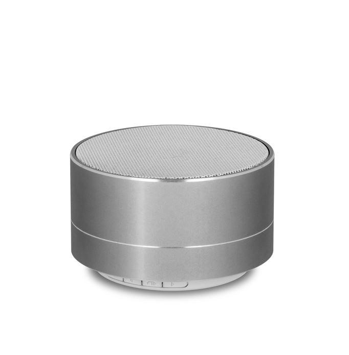 Bluetooth reproduktor FOREVER PBS-100 + slot Micro SD + FM Rádio stříbrný (Stylový bluetooth reproduktor s podporou paměťových karet a FM rádiem)