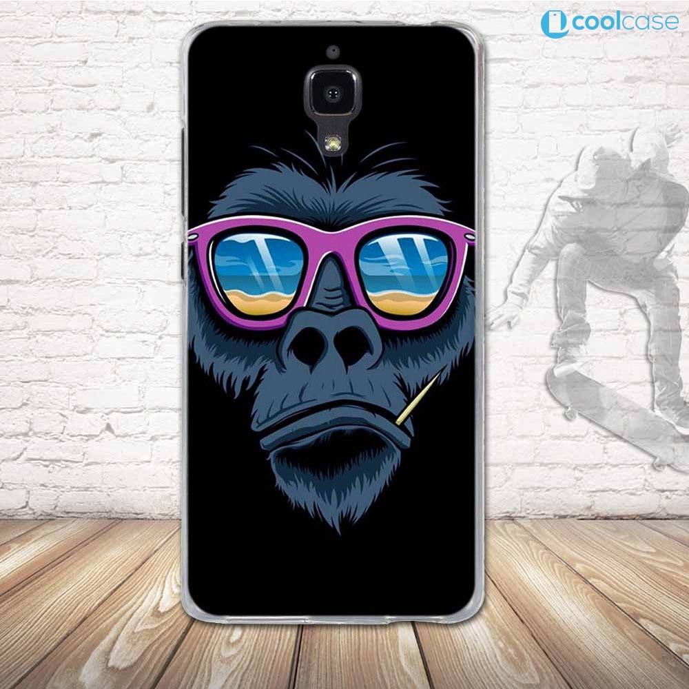 Silikonové pouzdro COOL CASE na mobil Xiaomi Mi4 Opičák (Silikonový kryt či obal na mobilní telefon v průhledném provedení Xiaomi Mi4)