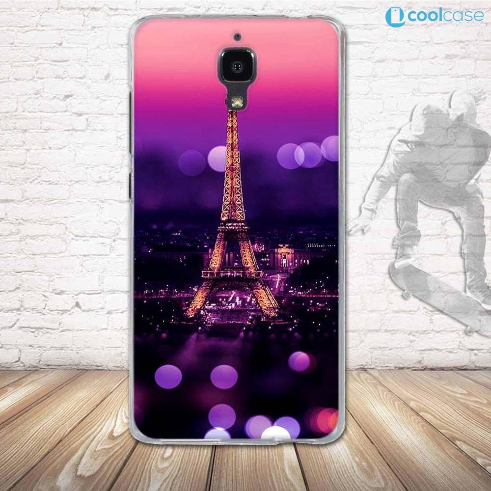 Silikonové pouzdro COOL CASE na mobil Xiaomi Mi4 Aifelovka (Silikonový kryt či obal na mobilní telefon v průhledném provedení Xiaomi Mi4)