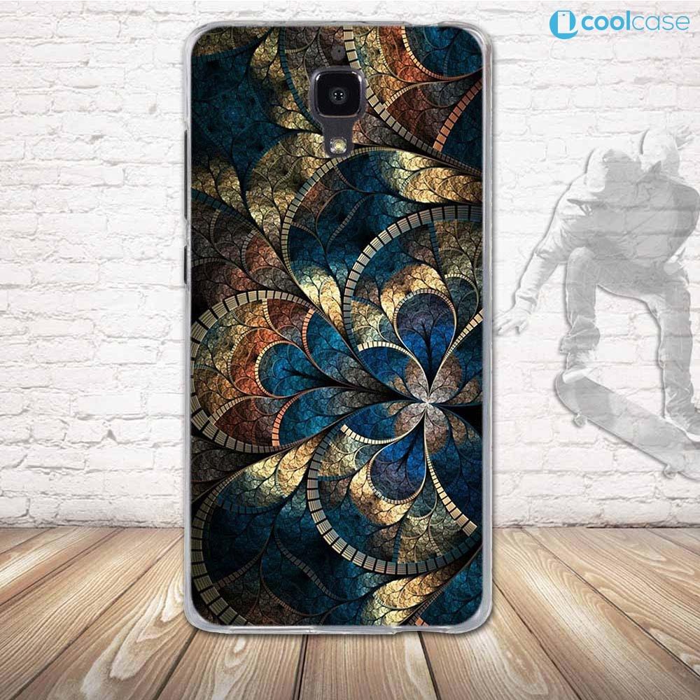 Silikonové pouzdro COOL CASE na mobil Xiaomi Mi4 Modrá mandala (Silikonový kryt či obal na mobilní telefon v průhledném provedení Xiaomi Mi4)