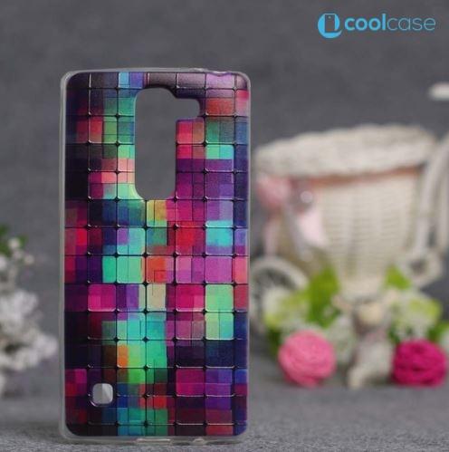 Silikonové pouzdro COOL CASE na mobil LG Spirit LTE Čtverečky (Silikonový kryt či obal na mobilní telefon LG Spirit H420 a LG Spirit LTE H440N)