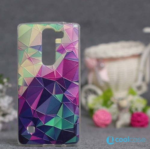 Silikonové pouzdro COOL CASE na mobil LG Spirit LTE Trojúhelníčky (Silikonový kryt či obal na mobilní telefon LG Spirit H420 a LG Spirit LTE H440N)