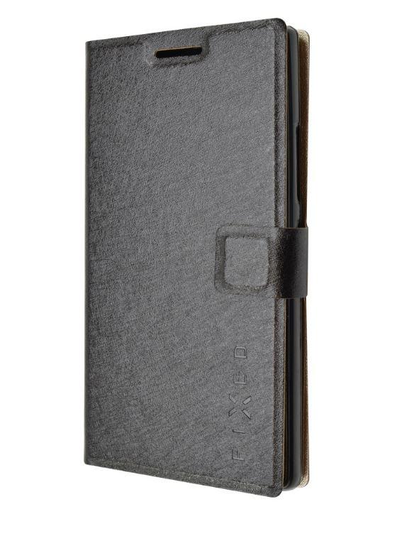 Flipové pouzdro na mobil FIXED typu kniha pro Lenovo P70 Černé (Flipové knížkové vyklápěcí pouzdro na mobilní telefon Lenovo P70)