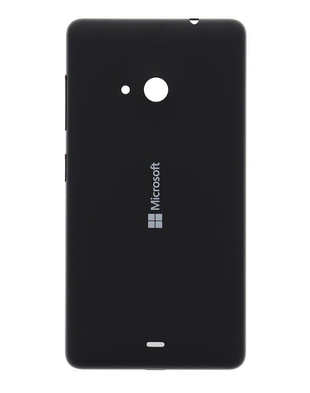 Originální zadní kryt baterie na mobil Microsoft Lumia 535, černý (Zadní originální výměnný kryt baterie pro Microsoft Lumii 535)