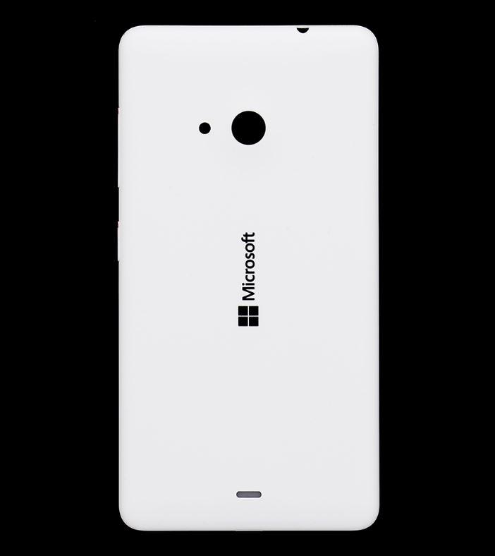 Originální zadní kryt baterie na mobil Microsoft Lumia 535, bílý (Zadní originální výměnný kryt baterie pro Microsoft Lumii 535)