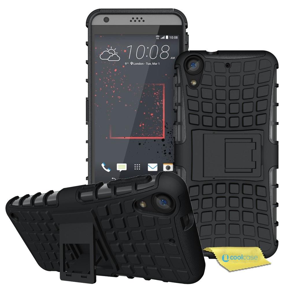 Odolné pouzdro PANZER CASE na mobilní telefon HTC Desire 530 / 630 Černé (Odolný kryt či obal na mobil HTC Desire 530 / 630 se stojánkem)