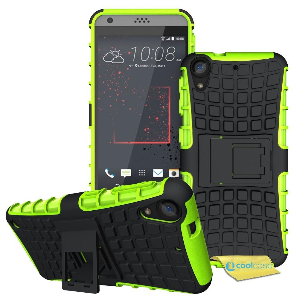 Odolné pouzdro PANZER CASE na mobilní telefon HTC Desire 530 / 630 Zelené (Odolný kryt či obal na mobil HTC Desire 530 / 630 se stojánkem)