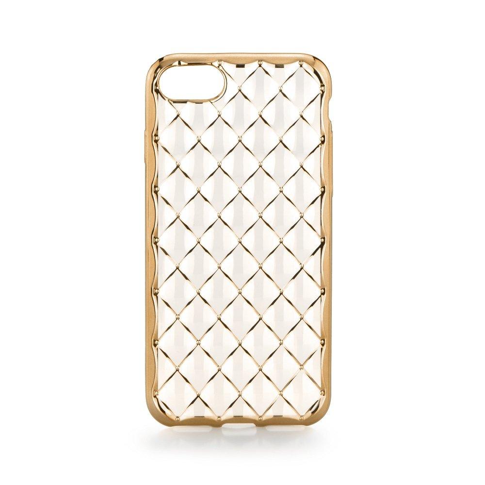"""Silikonové pouzdro na mobil Apple iPhone 7 LUXURY Clear Gold (Silikonový kryt či obal na mobilní telefon Apple iPhone 7 s displejem 4,7 """")"""