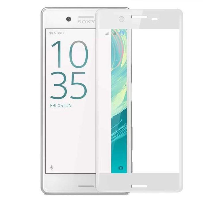 Ochranné tvrzené 3D sklo Sony Xperia XA na celou plochu displeje - bílé (Tvrzenné ochranné sklo Sony Xperia XA)