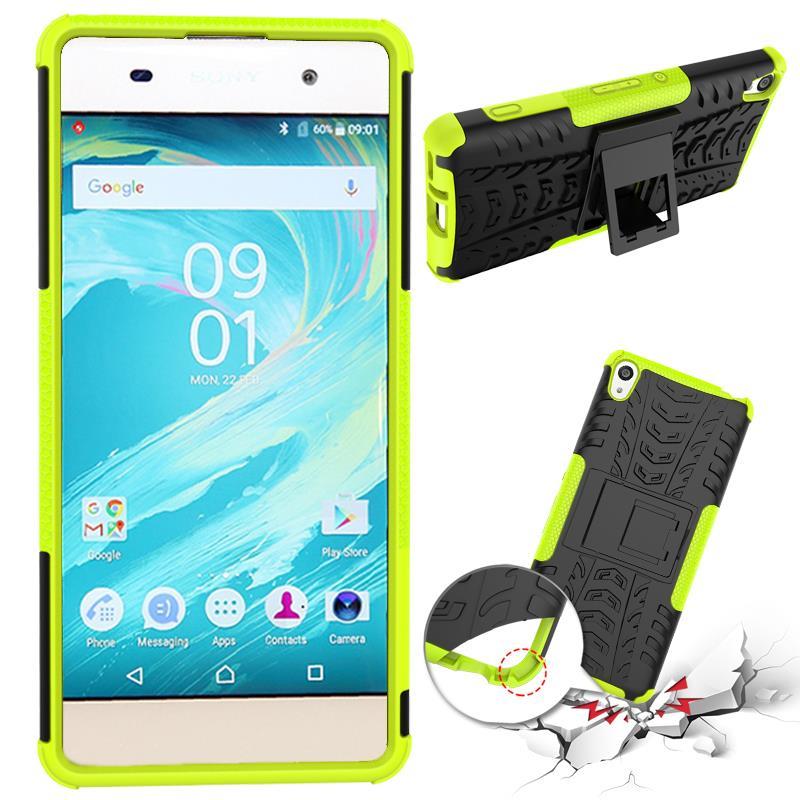 Odolné pouzdro PANZER CASE NEO na mobilní telefon Sony Xperia XA Zelené (Odolný kryt či obal na mobil Sony Xperia XA se stojánkem)