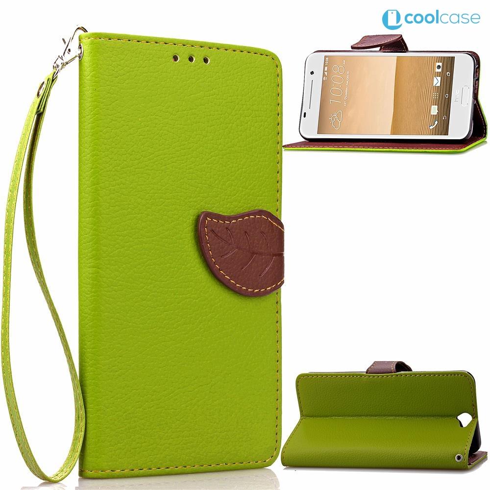 Flipové pouzdro na mobil LEAF BOOK HTC One A9 Zelené (Flipové knížkové vyklápěcí pouzdro na mobilní telefon HTC One A9)