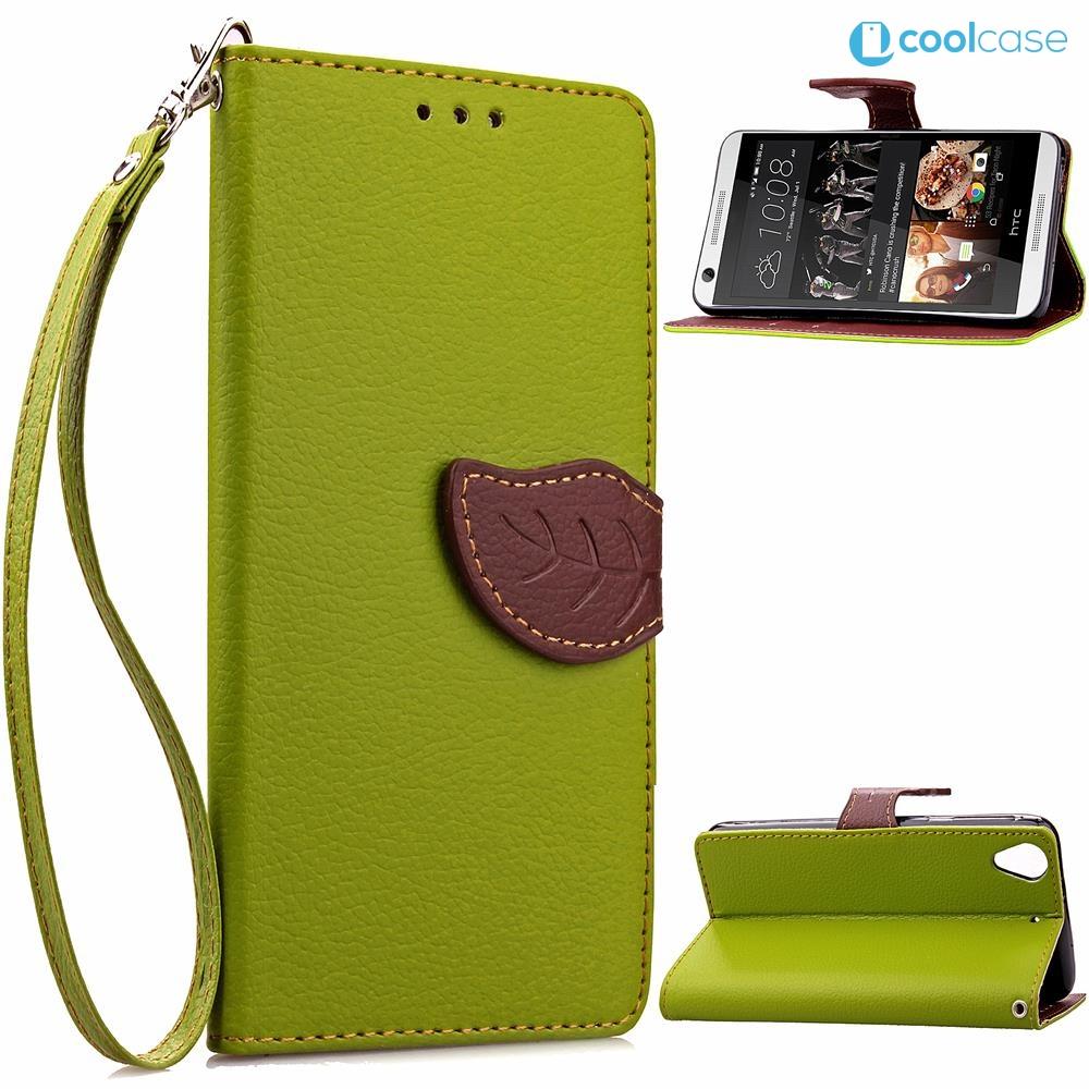 Flipové pouzdro na mobil LEAF BOOK HTC Desire 626 Zelené (Flipové knížkové vyklápěcí pouzdro na mobilní telefon HTC Desire 626)