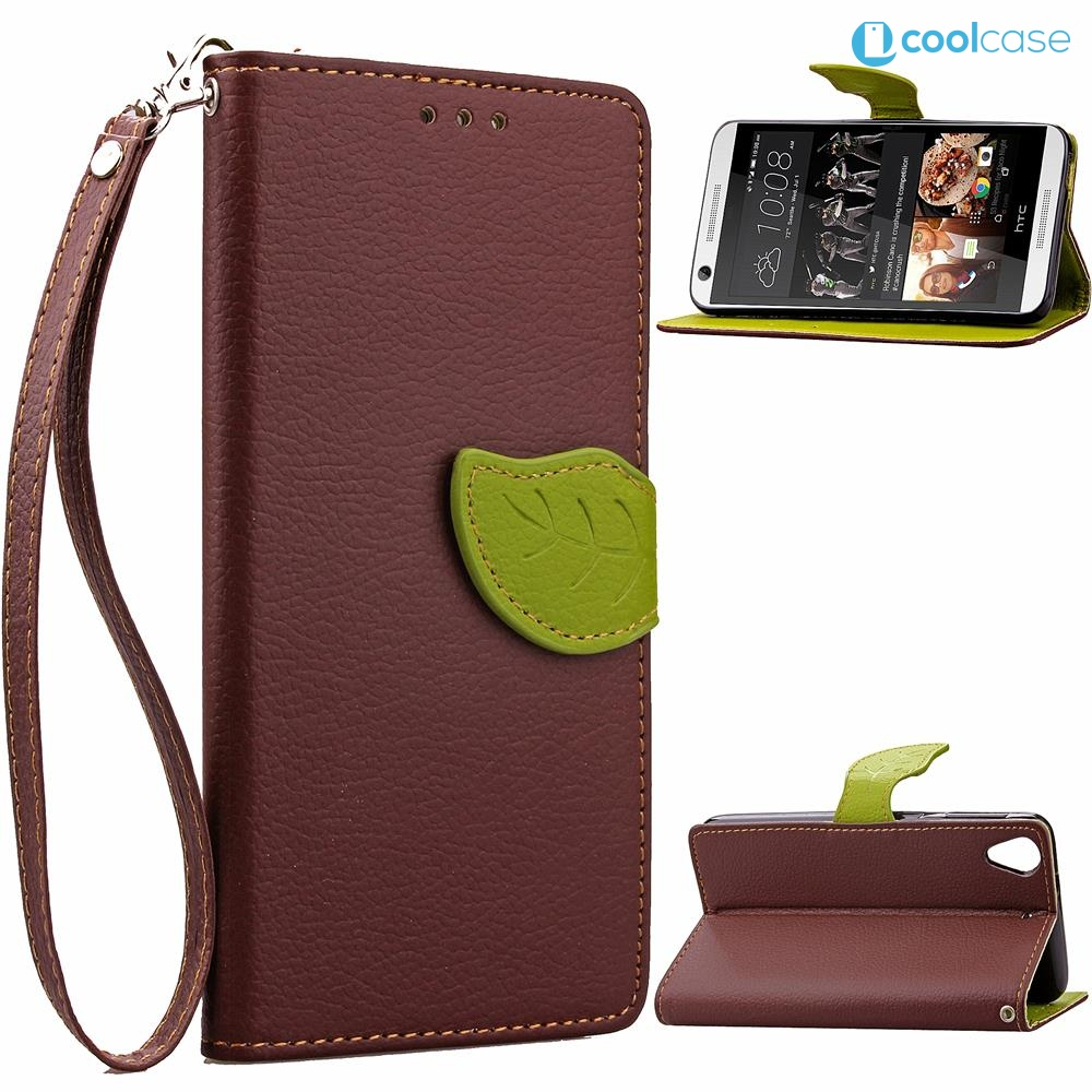 Flipové pouzdro na mobil LEAF BOOK HTC Desire 626 Hnědé (Flipové knížkové vyklápěcí pouzdro na mobilní telefon HTC Desire 626)