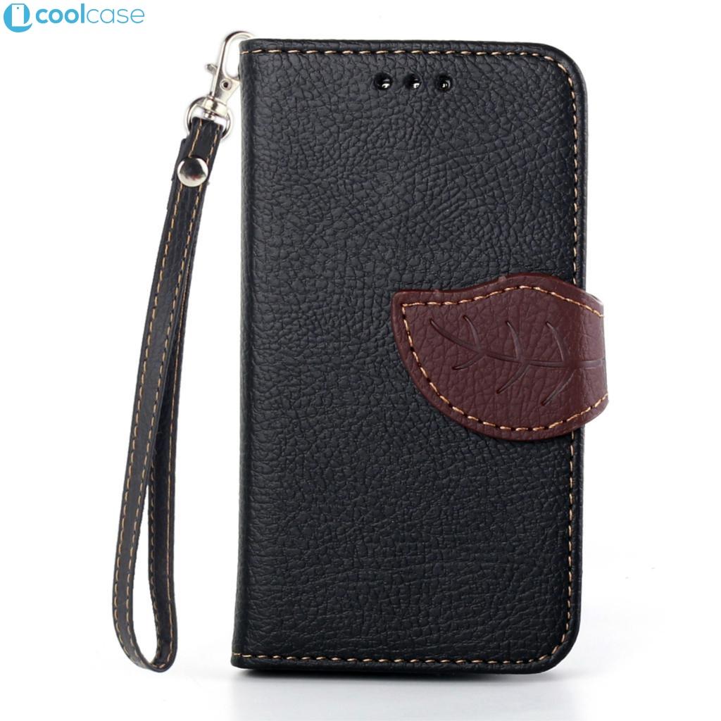 Flipové pouzdro LEAF BOOK Samsung Galaxy S3 Mini Černé (Flip kryt či obal na mobil Samsung Galaxy S3 Mini)
