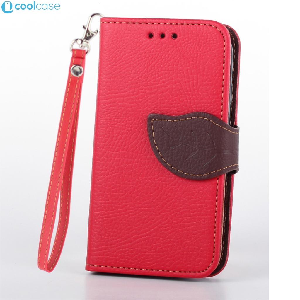 Flipové pouzdro LEAF BOOK Samsung Galaxy S3 Mini Červené (Flip kryt či obal na mobil Samsung Galaxy S3 Mini)