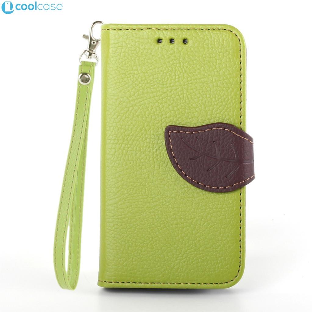 Flipové pouzdro LEAF BOOK Samsung Galaxy S3 Mini Zelené (Flip kryt či obal na mobil Samsung Galaxy S3 Mini)
