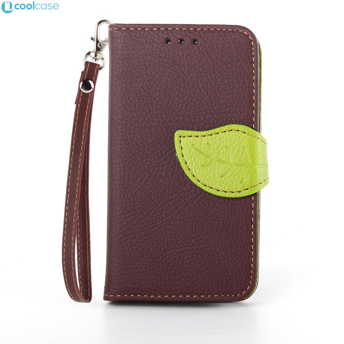 Flipové pouzdro LEAF BOOK Samsung Galaxy S3 Mini Hnědé (Flip kryt či obal na mobil Samsung Galaxy S3 Mini)