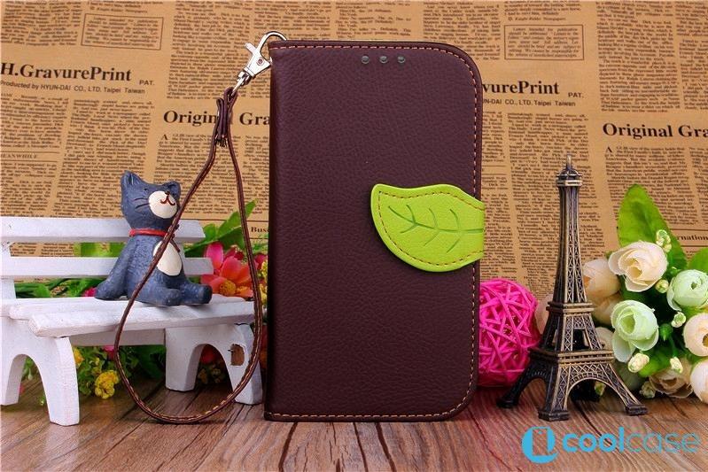 Flipové pouzdro LEAF BOOK Samsung Galaxy S III Neo Hnědé (Flip kryt či obal na mobil Samsung Galaxy S3 / SIII Neo I9300)
