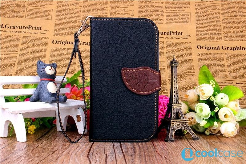 Flipové pouzdro LEAF BOOK Samsung Galaxy S III Neo Černé (Flip kryt či obal na mobil Samsung Galaxy S3 / SIII Neo I9300)