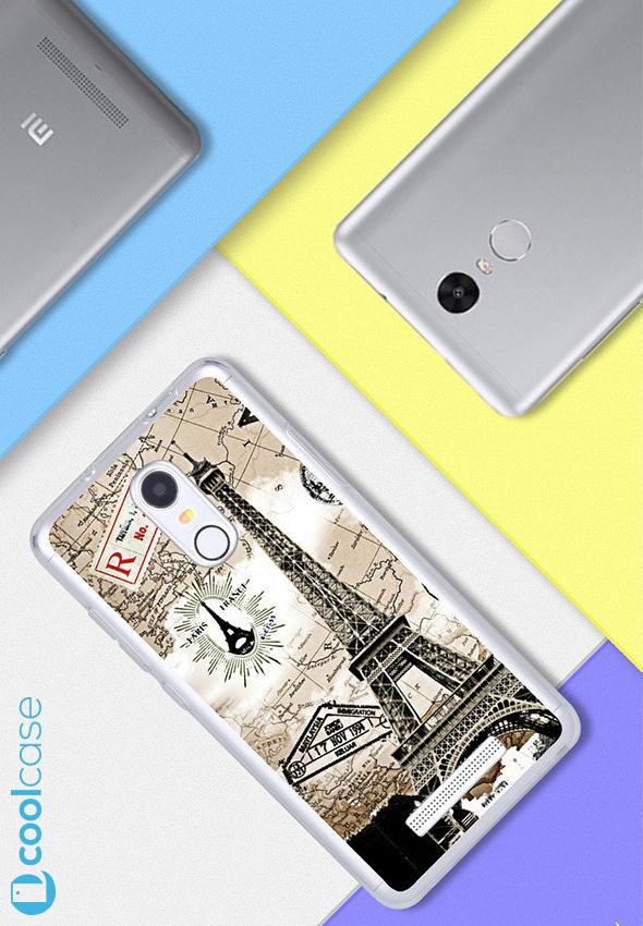 Silikonové pouzdro na mobil Xiaomi Redmi NOTE 3 Pro/ LTE Global 152mm Aifelovka (Silikonový kryt či obal na mobilní telefon v průhledném provedení Xiaomi Redmi NOTE 3 Pro / Xiaomi Redmi NOTE 3 LTE Global Edition)
