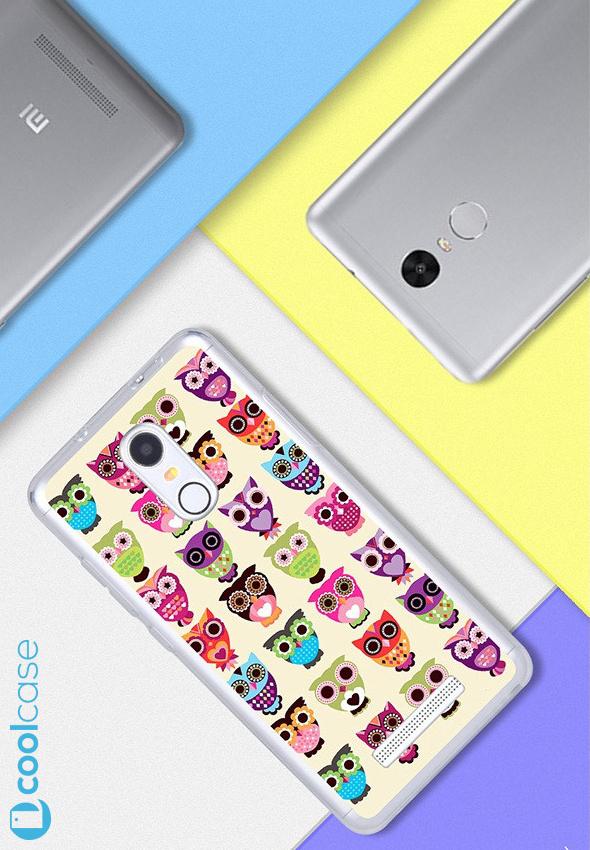 Silikonové pouzdro na mobil Xiaomi Redmi NOTE 3 Pro/ LTE Global 152mm Sovičky (Silikonový kryt či obal na mobilní telefon v průhledném provedení Xiaomi Redmi NOTE 3 Pro / Xiaomi Redmi NOTE 3 LTE Global Edition)
