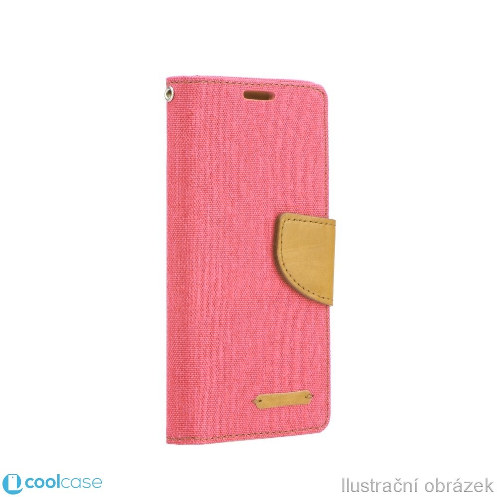 Flipové pouzdro Canvas Book LENOVO A1000 Růžové (Flipové knížkové vyklápěcí pouzdro na mobilní telefon Lenovo A1000)