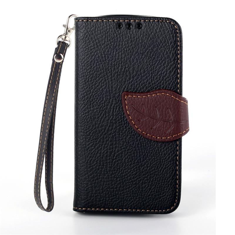 Flipové pouzdro LEAF BOOK Samsung Galaxy Trend Plus Černé (Flip kryt či obal na mobil Samsung Galaxy Trend Plus)