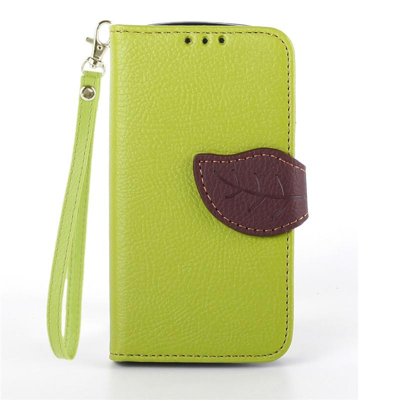 Flipové pouzdro LEAF BOOK Samsung Galaxy Trend Plus Zelené (Flip kryt či obal na mobil Samsung Galaxy Trend Plus)