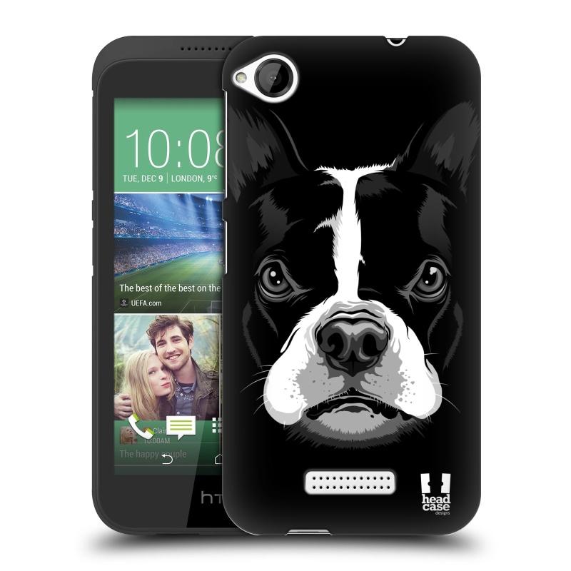 Plastové pouzdro na mobil HTC Desire 320 HEAD CASE ILUSTROVANÝ BULDOČEK (Kryt či obal na mobilní telefon HTC Desire 320)