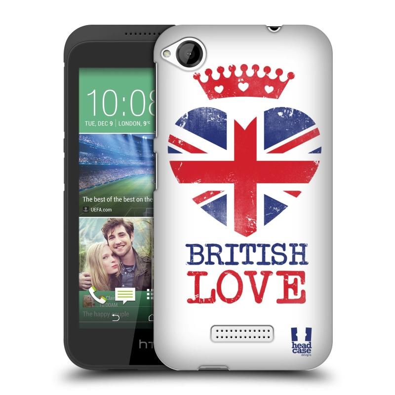 Plastové pouzdro na mobil HTC Desire 320 HEAD CASE BRITISH LOVE (Kryt či obal na mobilní telefon HTC Desire 320)