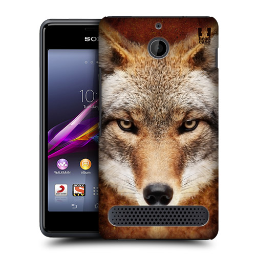 Pouzdro na mobil Sony Xperia E1 D2005 HEAD CASE TVÁŘÍ V TVÁŘ - KOJOT (Kryt či obal na mobil Sony Xperia E1)