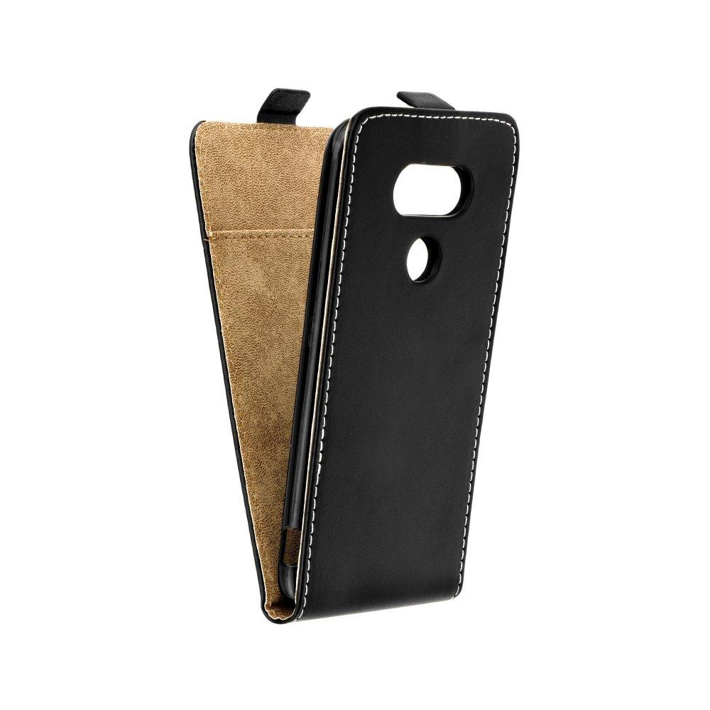 Vertikální flipové pouzdro FLEXI FRESH pro LG G6 Černé (Flipové vertikální vyklápěcí pouzdro na mobilní telefon LG G6)