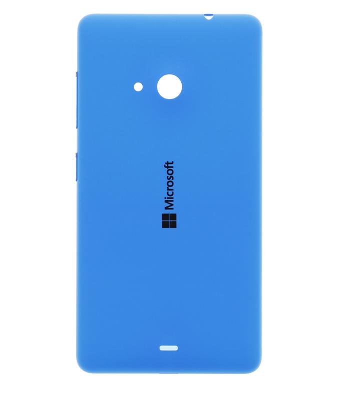Originální zadní kryt baterie na mobil Microsoft Lumia 535, modrý (Zadní originální výměnný kryt baterie pro Microsoft Lumii 535)