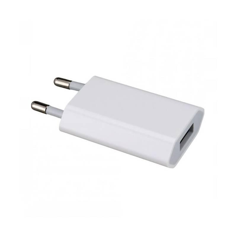 Originální cestovní nabíjecí adaptér Apple A1400 k iPhone s USB výstupem (bulk) (Cestovní adaptér, dobíječ s USB výstupem)