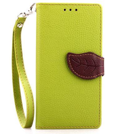 Flipové pouzdro LEAF BOOK Samsung Galaxy S4 Mini Zelené (Flip kryt či obal na mobil Samsung Galaxy S4 Mini)