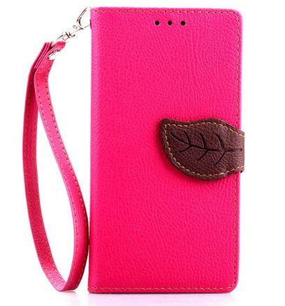 Flipové pouzdro LEAF BOOK Samsung Galaxy S4 Mini Růžové (Flip kryt či obal na mobil Samsung Galaxy S4 Mini)