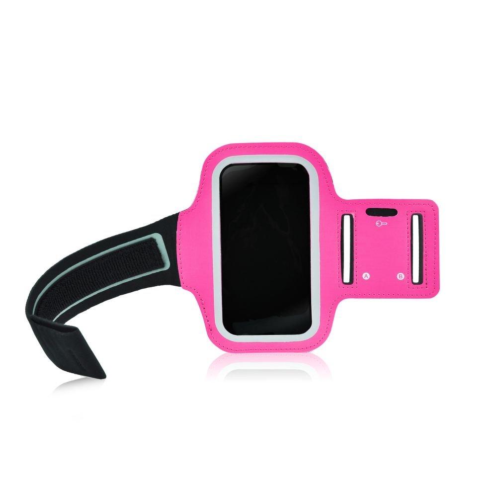 """Sportovní pouzdro na ruku na běhání Armband pro mobily do 5"""" růžové (Pouzdro na běhání pro mobilní telefony do 5 palců)"""