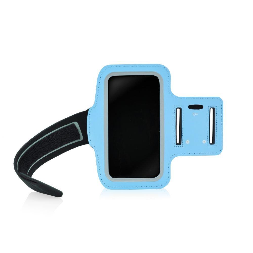 """Sportovní pouzdro na ruku na běhání Armband pro mobily do 5"""" azurové (Pouzdro na běhání pro mobilní telefony do 5 palců)"""