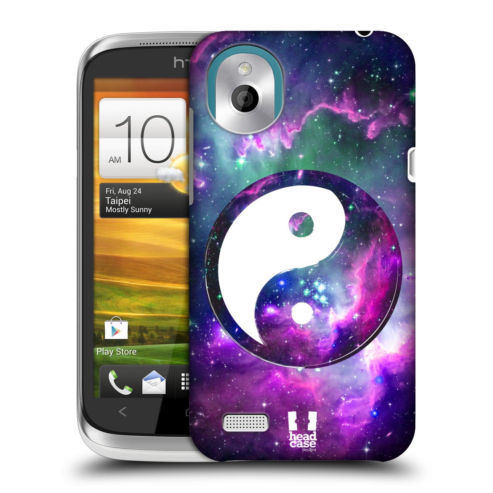 Plastové pouzdro na mobil HTC Desire X HEAD CASE Yin a Yang PURPLE (Kryt či obal na mobilní telefon HTC Desire X)