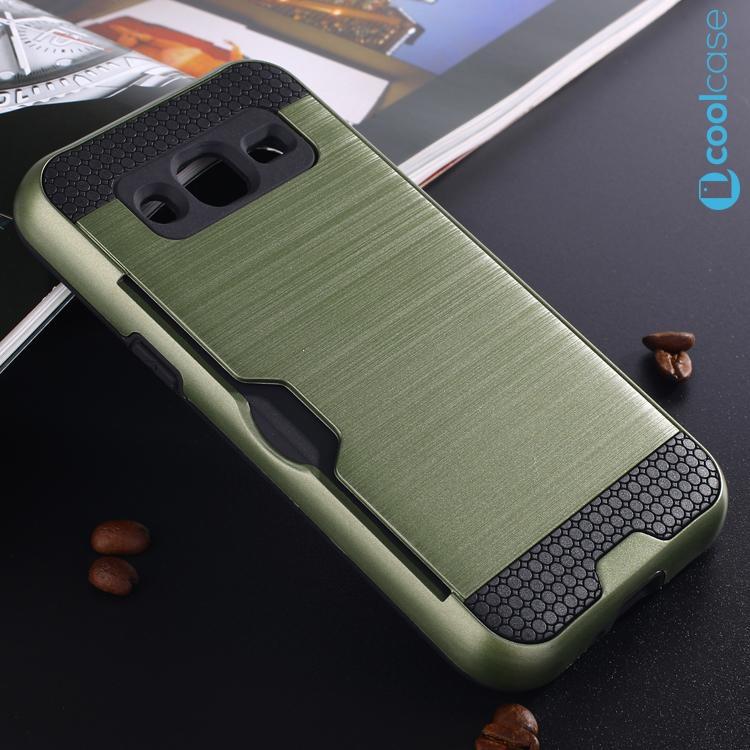 Odolné pouzdro BRUSHED ARMOR na mobil Samsung Galaxy J3 (2016) Olivové (Odolný kryt či obal na mobil Samsung Galaxy J3 (2016))