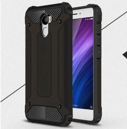 Odolné pouzdro BRUTAL ARMOR na mobilní telefon Xiaomi Redmi 4 Tmavě hnědé