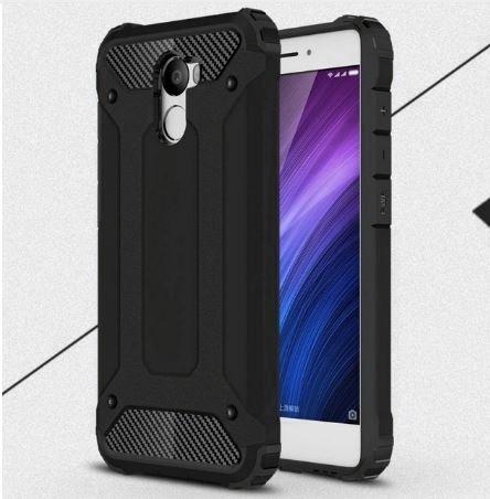 Odolné pouzdro BRUTAL ARMOR na mobilní telefon Xiaomi Redmi 4 Černé (Odolný kryt či obal na mobil Xiaomi Redmi 4)
