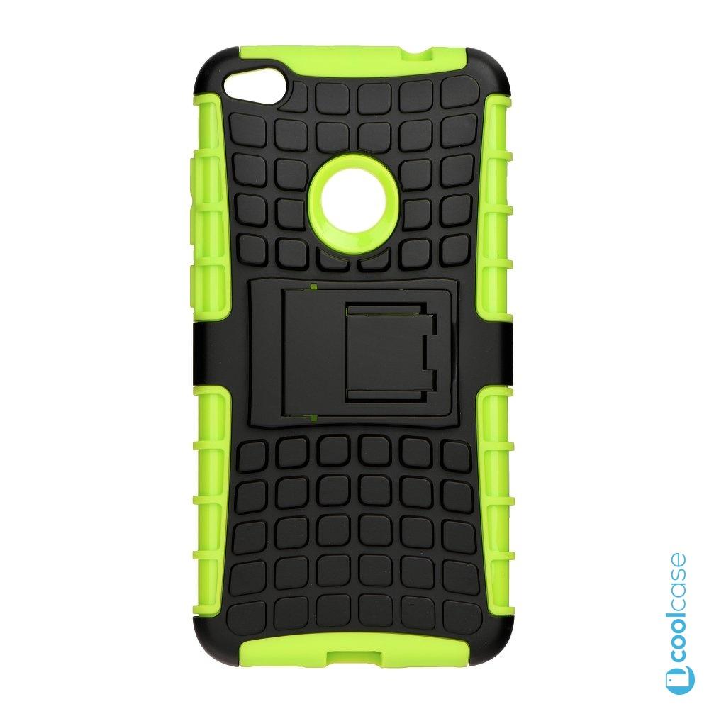 Odolné pouzdro PANZER CASE na mobil Huawei P9 Lite (2017) / Honor 8 Lite Zelené (Odolný kryt či obal na mobil Huawei P9 Lite (2017) se stojánkem)
